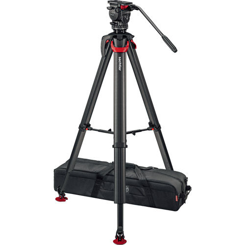 aktiv8 Fluid Head (S2068T) + Tripod Flowtech75 MS with Mid-Level Spreader and Padded Bag