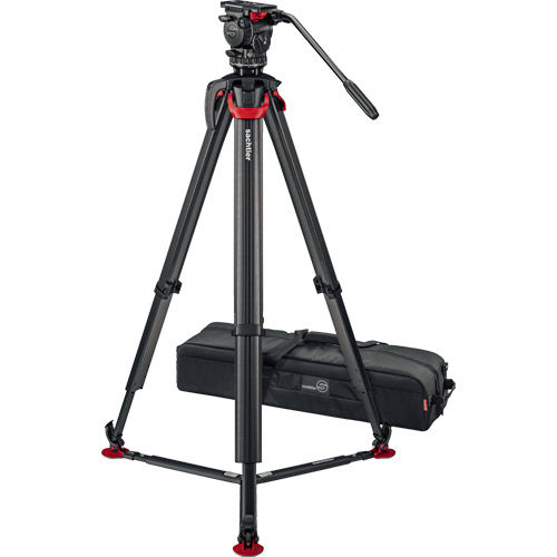aktiv8 Fluid Head (S2068T) + Tripod Flowtech75 GS with Ground Spreader and Padded Bag