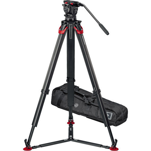 aktiv10 Fluid Head (S2072S) + Tripod Flowtech100 with Ground Spreader and Padded Bag ENG