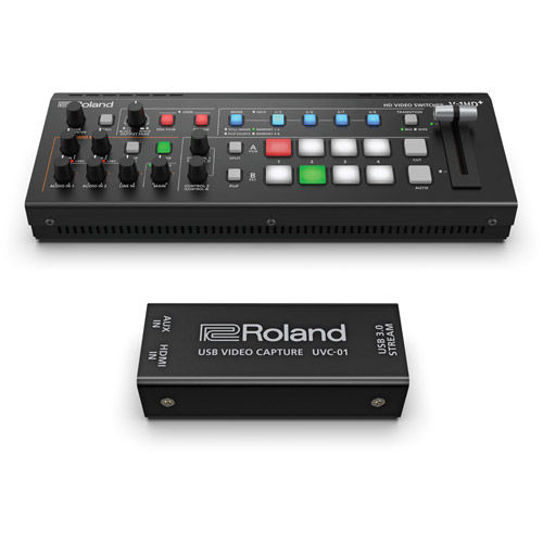 V-1HD+  Compact Portable 4-Channel Video Switcher Kit with UVC-01