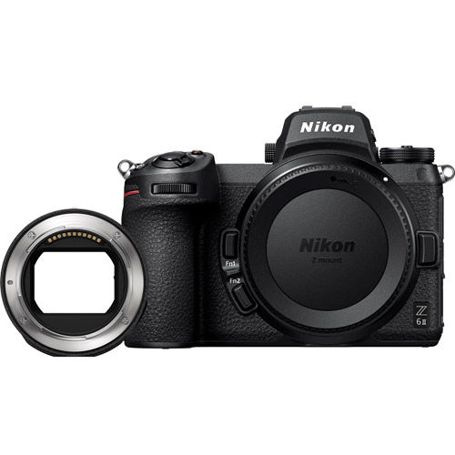 Image of Nikon Z6II Mirrorless Body w/ NIKKOR FTZ Mount Adapter