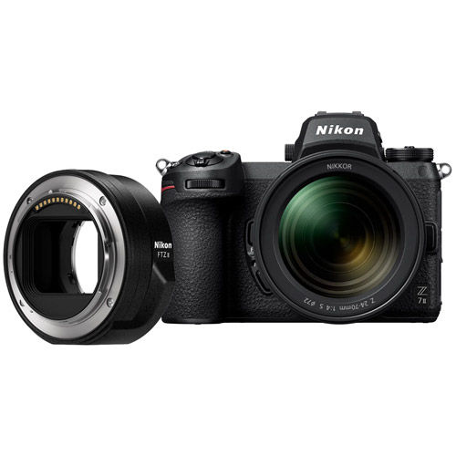 Z7II Mirrorless Kit w/ NIKKOR Z 24-70mm f/4.0 S Lens & NIKKOR FTZ Mount Adapter