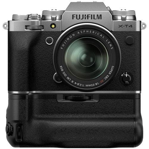 X-T4 Mirrorless Kit Silver w/ XF 18-55mm f/2.8-4.0 R LM OIS Lens & VG-XT4 Grip