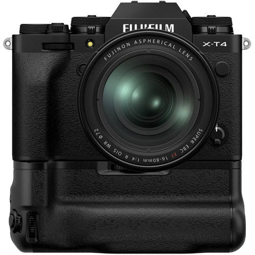 X-T4 Mirrorless Kit Black w/ XF 16-80mm f/4 R OIS WR Lens & VG-XT4 Grip
