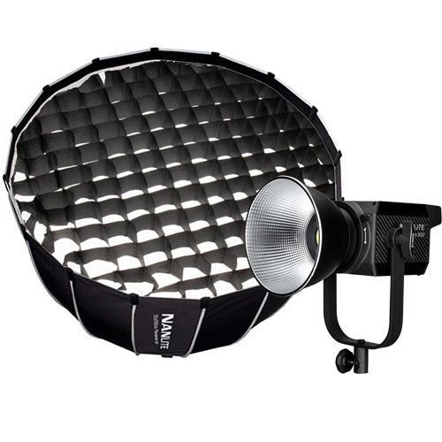 Forza 300 LED Light 300W incl AC, Cable, Reflector w/Parabolic Softbox 90CM & Fabric Eggcrate