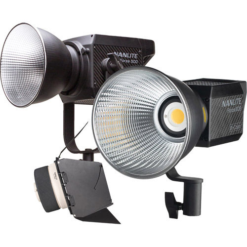 Forza 500 LED Light 500W incl AC, Cable, Reflector w/Forza 60B LED Light &  FL-20G Fresnel