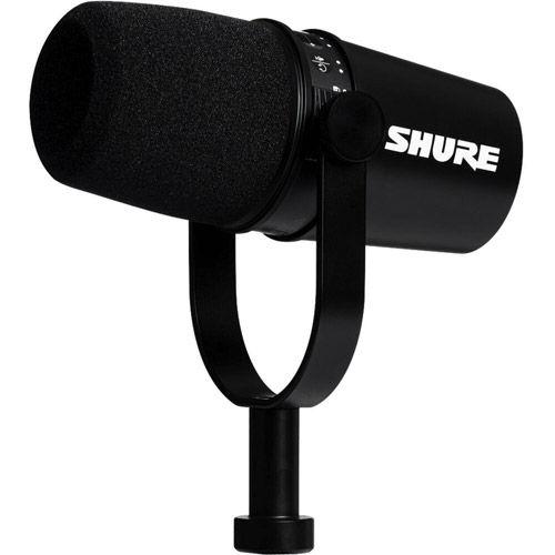 MV7 Cardioid Dynamic Studio Vocal Microphone w / USB and XLR Outputs - Black