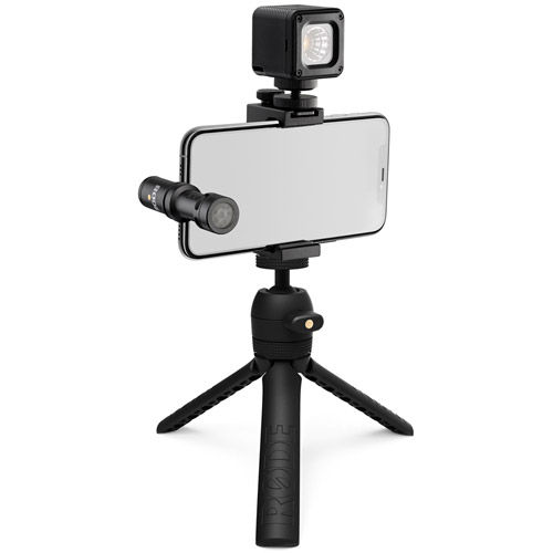 Image of Rode Microphones iOS Vlog, Includes VideoMic Me-L, Tripod 2, Smart Grip, LED Light & Accessories