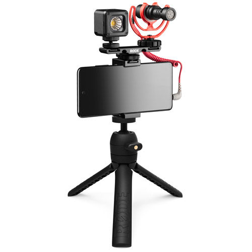 Universal Vlogger Kit,Includes VideoMicro,Tripod 2 , Smart Grip, MicroLED Light and Accessories