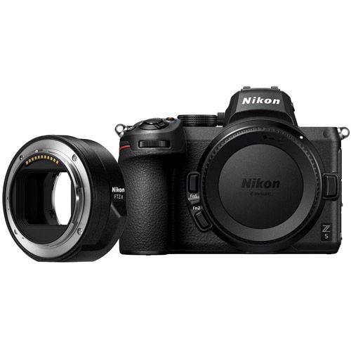 Image of Nikon Z5 Mirrorless Body w/ NIKKOR FTZ Mount Adapter