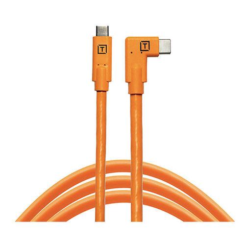 TeatherPro USB-C to USB-C Right Angle Orange