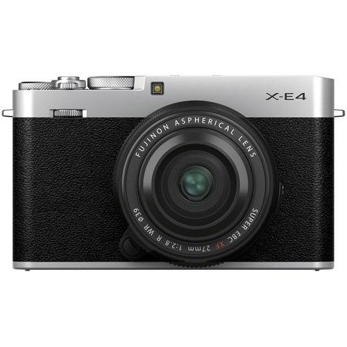 X-E4 Mirrorless Kit Silver w/ XF 27mm f/2.8 R WR Lens