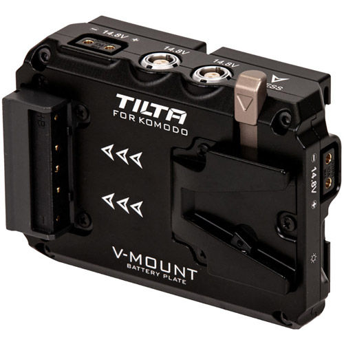 Image of Tilta Dual Canon BP to V-Mount Battery Plate Adapter for RED Komodo (Black)