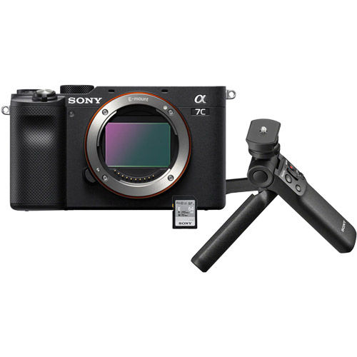 Alpha A7C Mirrorless Body Black w/ ACCVC1 Vlogger Accessory Kit