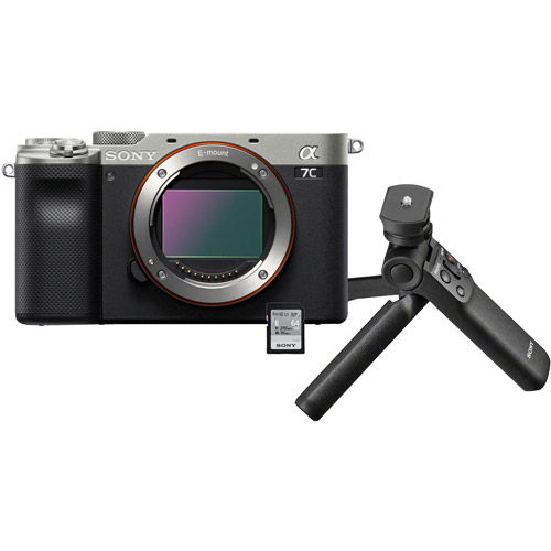 Alpha A7C Mirrorless Body Silver w/ ACCVC1 Vlogger Accessory Kit