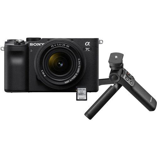 Alpha A7C Mirrorless Kit Black w/ FE 28-60mm f/4.0-5.6 Lens & Vlogger Accessory Kit