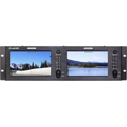 """Dual 7"""" FULL HD Rack DIS Monitors"""