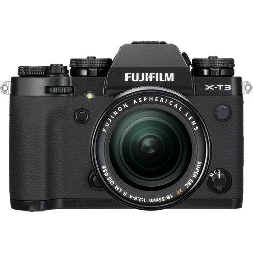 Image of Fujifilm X-T3 Mirrorless Kit Black w/ XF 18-55mm f/2.8-4.0 R LM OIS Lens (USB-C Charger)