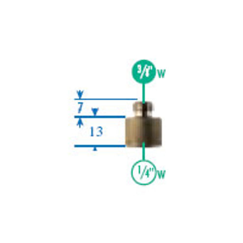 """088 Adapter 3/8"""" to 1/4"""" Thread"""