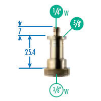"""151 Adapter Stud 5/8"""" to 3/8"""""""