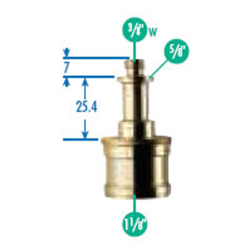 """019 Cine Adapter 1 1/8"""" to 5/8"""" with 3/8 Thread"""