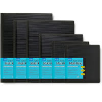 """11"""" x 17"""" Presentation Book Multi-Ring Refillable Binder Black, 24 pages"""