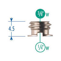 148KN Set of 5 Adapter 3/8 Thread - 1/4 Socket