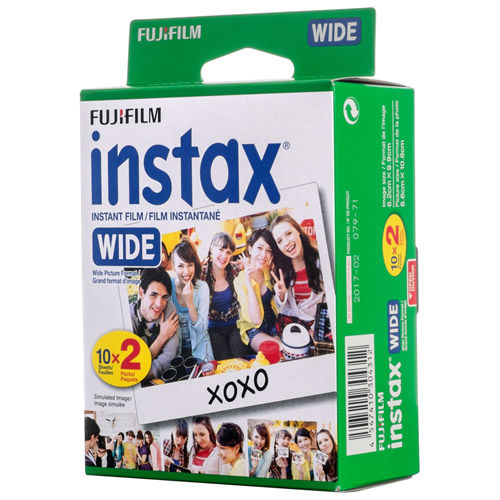 Instax Colour Instant Film Wide (TwinPack) 20 Exposures