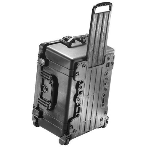 1620 Case Black w/Foam w/Retractable Handle & Wheels