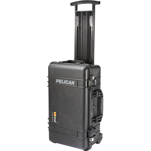 1510 Case Black w/foam w/Retractable Handle & Wheels