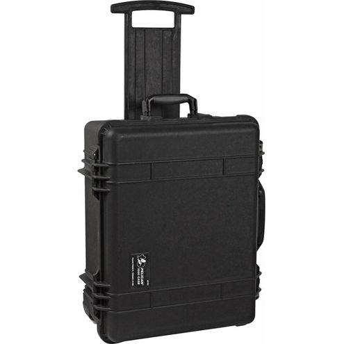 1560 Case Black w/Foam w/Retractable Handle & Wheels