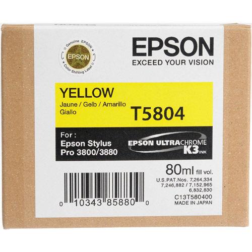T580400 Yellow UltraChrome 80ml Stylus Pro 3800 / 3880