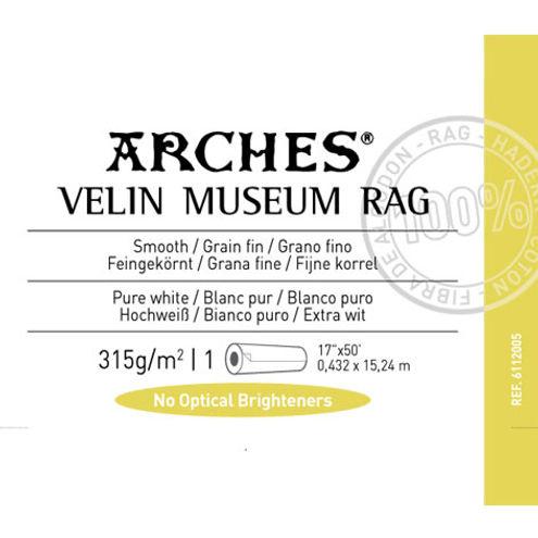 "17"" x 50' Infinity Velin Museum Rag Matte - 315 gsm - Roll"