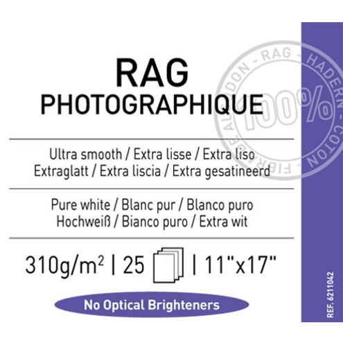 "11"" x 17"" Infinity Rag Photographique Matte - 310 gsm - 25 Sheets"