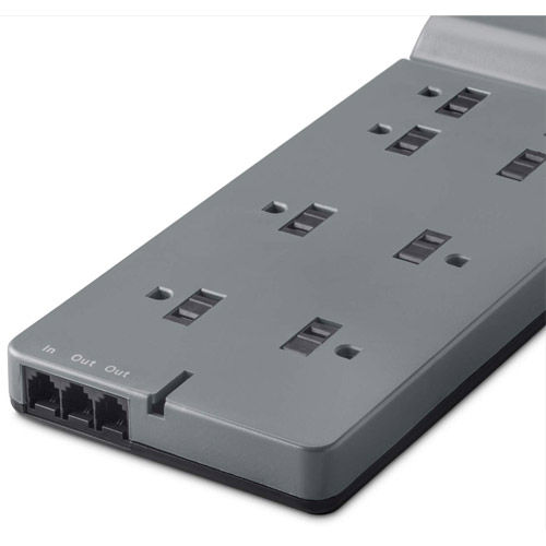 BE108200 8 Input Surge Protect Power Bar 8 Outlet