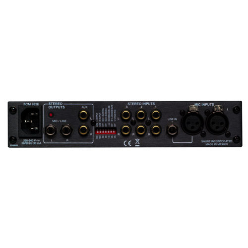 SCM262 Stereo Mixer for 2 mics + 3 Stereo Sources