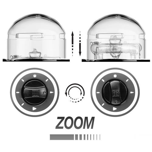 Zoom Pro HD Flash Head with Clear Glass Dome