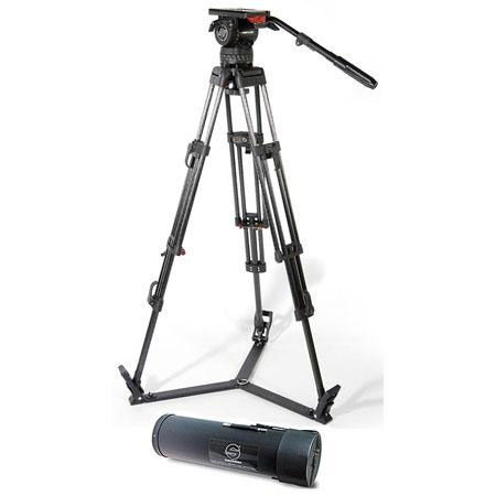 System 15 SB ENG 2 CF With Video 15 SB Head, ENG Carbon Fiber Tripod, Ground Spreader, and Case