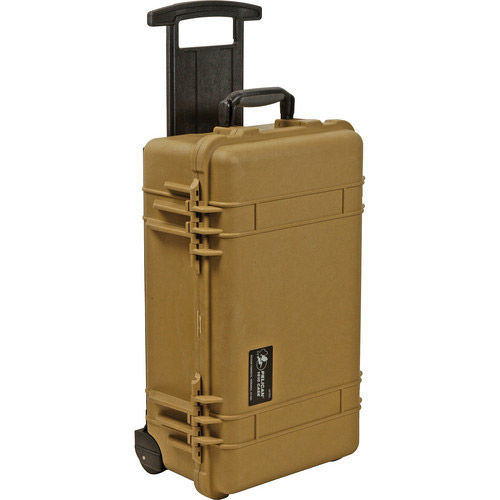 1510 Case Desert Tan w/foam w/Retractable Handle & Wheels