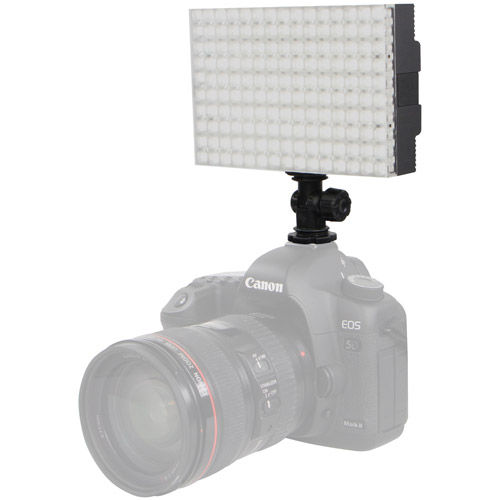 CN-B150 LED On-Camera Light with Sony Type F550 Battery, Charger, Hot Shoe Adapter and Filter Set