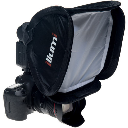 "9"" x 9"" (23 cm x 23 cm) Shoot Solo On-Camera Softbox (Fits on Most Camera Speed Lights)"