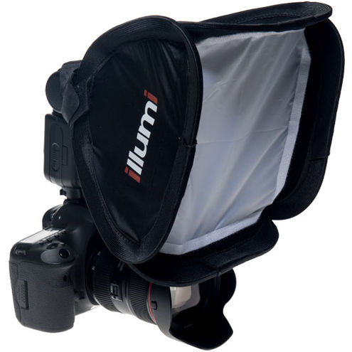 """9"""" x 9"""" (23 cm x 23 cm) Shoot Solo On-Camera Softbox (Fits on Most Camera Speed Lights)"""