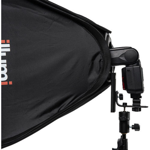 "31"" x 31"" (80 cm x 80 cm)  Speedlight Collapsible Softbox - Silver Extra Large with Tilthead Bracket"