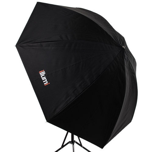"36"" Umbrella - White with Black Removable Cover"