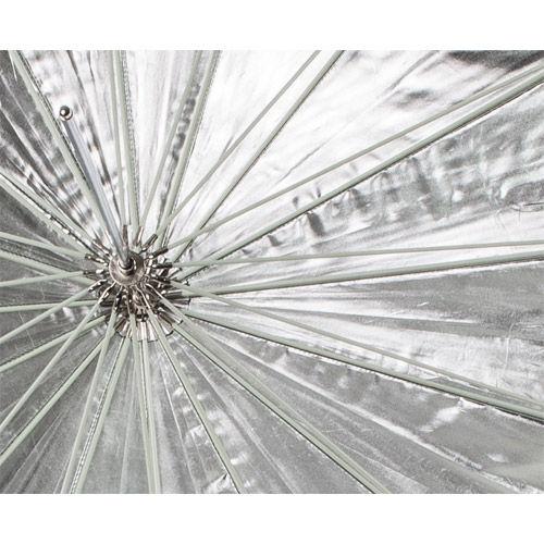 "72"" Parabolic Umbrella - Black/Silver"