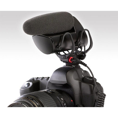 VP83F LensHopper Shotgun Microphone with Integrated Flash and Recorder 2 AA Alcaline Batter