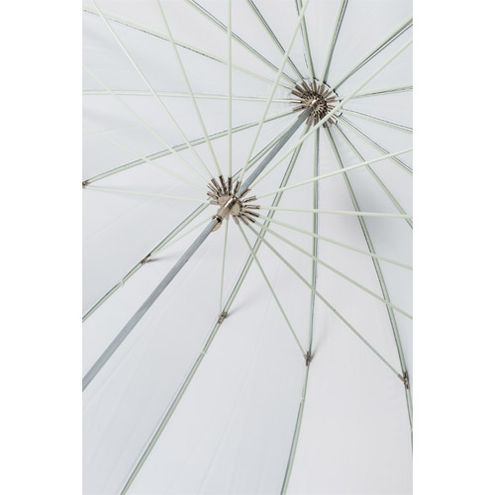 "72"" Parabolic Umbrella - Black/White"