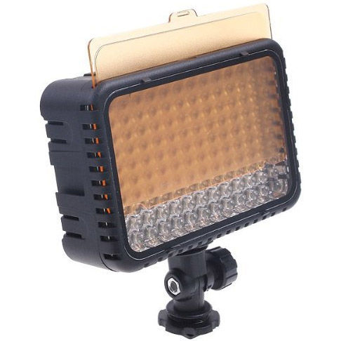 CN-Lux1500 LED On Camera Light w/Sony Type F550 Battery Battery Charger, Hot shoe adapter