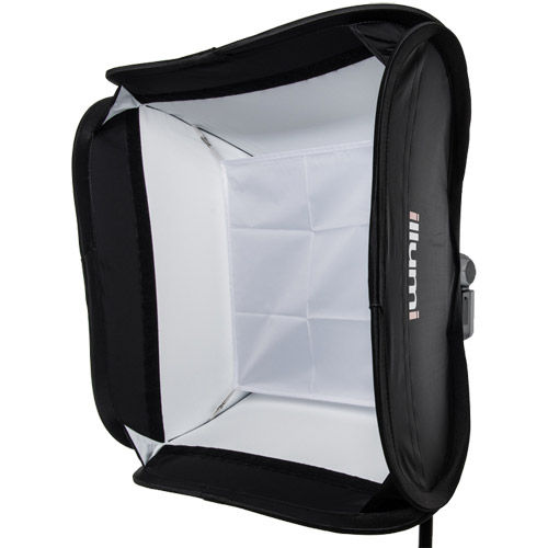 "19"" x 19"" (50 cm x 50 cm)  Speedlight Collapsible Softbox - White with Tilthead Bracket"