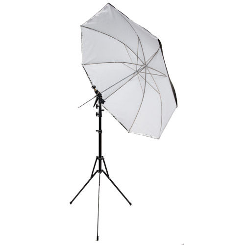 "45"" Umbrella Travel Kit with Travel Light Stand, Umbrella Holder and Cold Shoe with Clamp Lock"